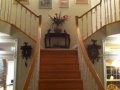 Refinshed Red Oak Staircase