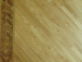 Refinished Maple Floor, Walnut Border