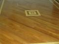 Refinished Jatoba floor, Birch Inlay