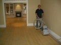 Refinish of a Pine Floor, restoration