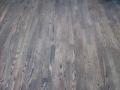 """Refinished Red Oak Floor, """"blackwash"""" Stain"""