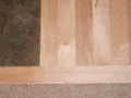 Detail of Hardwood to tile and carpet transitions