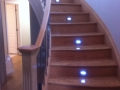 Hardwood Staircase refinish after flood damage.