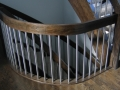 Site Finished Custom-Stained White Oak Floor, Stairs