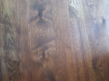 Site Finished Hickory Hardwood Floor with Custom Stain.