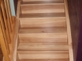 Site Finished Rustic Hickory Staircase.