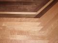 Site Finished Bird's Eye Maple Floor, Walnut Insert