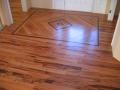 Site Finished Tigerwood Floor Custom Entry, Wenge Highlights.