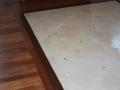 Sapele meets tile insert