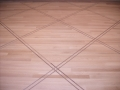 Site Finished White Oak Floor with Walnut Basketweave