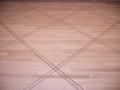 Site Finished White Oak Floor with Walnut Basketweave