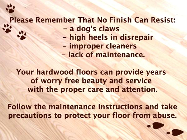 Hardwood Floor Care and Maintenance