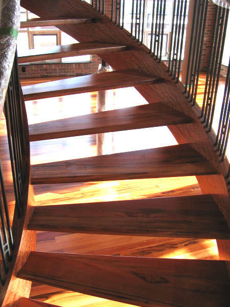 Site Finished Tigerwood Stairs