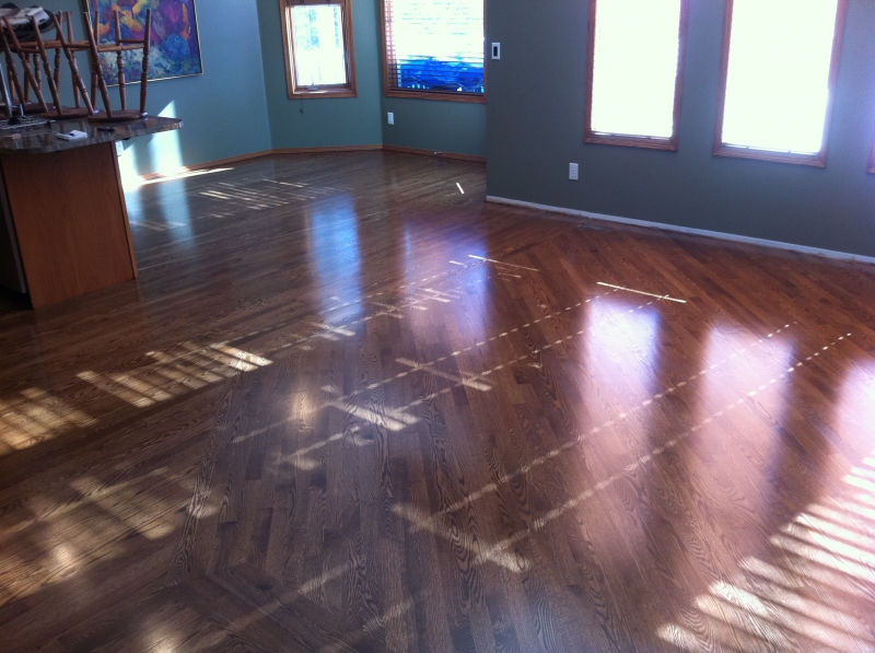 Refinished Red Oak Hardwood